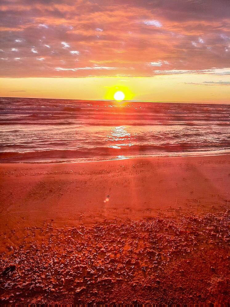 Sun Rise on a Maine Beach by Gordon H Rohrbaugh Jr.