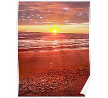 Sun Rise on a Maine Beach Poster