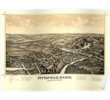 Panoramic Maps Pittsfield Maine Poster