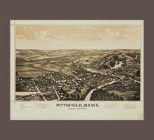 Panoramic Maps Pittsfield Maine Baby Tee