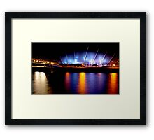 """River Clyde "" Glasgow  Framed Print"