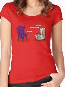Consulting Armchair and Army Upholstery Women's Fitted Scoop T-Shirt