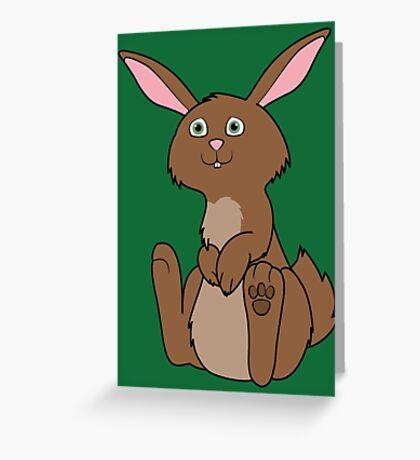 Sitting Brown Rabbit Greeting Card