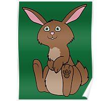Sitting Brown Rabbit Poster