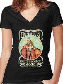 Buttercup's Butterscotch Soda  Women's Fitted V-Neck T-Shirt