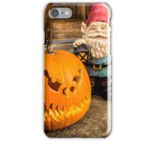 Porch Pumpkin Gnome iPhone Case/Skin