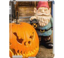 Porch Pumpkin Gnome iPad Case/Skin