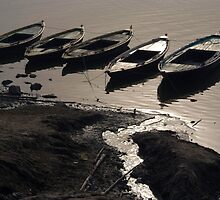 Boats in the Ganges by SerenaB