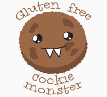 Gluten Free Cookie Monster with cute kawaii biscuit Kids Tee