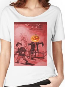 The Scarecrow (Vintage Halloween Card) Women's Relaxed Fit T-Shirt