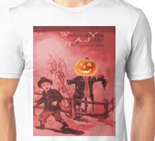 The Scarecrow (Vintage Halloween Card) Unisex T-Shirt