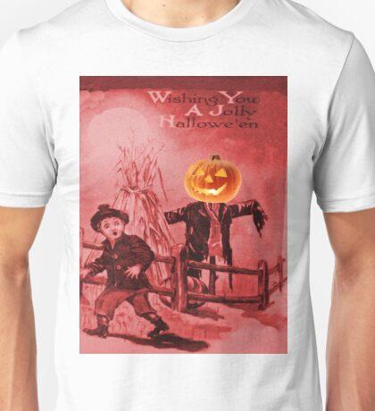 The Scarecrow (Vintage Halloween Card) Unisex T-Shirt