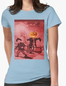 The Scarecrow (Vintage Halloween Card) Womens Fitted T-Shirt