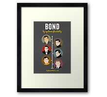 Bond, by eyebrow flexibility Framed Print