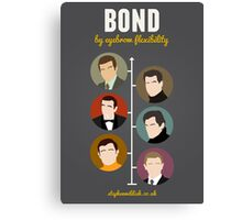Bond, by eyebrow flexibility Canvas Print