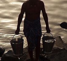 Collecting Water from the Ganges by SerenaB