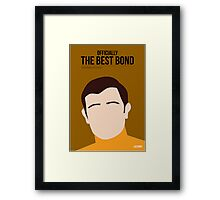 Officially the best bond - Lazenby! Framed Print