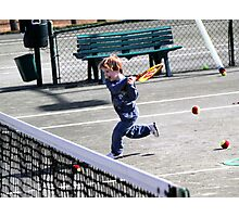 Tennis Lesson Photographic Print