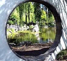 View through the Moon Gate by Laurel Talabere