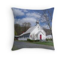 Church At The Base Of The Mountain Throw Pillow