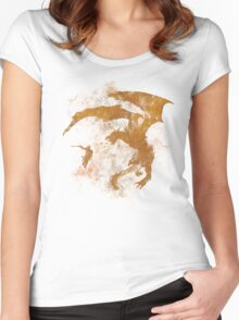 Dragonfight-cooltexture Women's Fitted Scoop T-Shirt