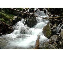 Waterfall detail in the forest of Slovakia Photographic Print
