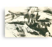 autumn landscape with snow Canvas Print