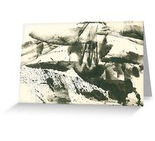 autumn landscape with snow Greeting Card