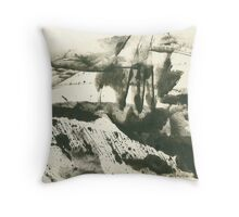 autumn landscape with snow Throw Pillow