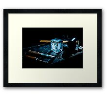 Handcrafted Ice Cube Framed Print