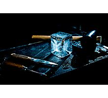 Handcrafted Ice Cube Photographic Print