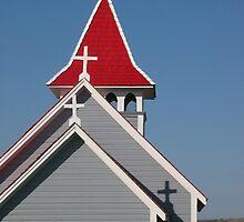 Valley Church Shadow by Rod J Wood