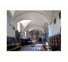 church interior volterra Art Print