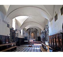 church interior volterra Photographic Print
