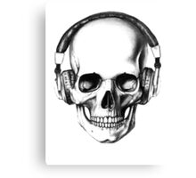 SKULL HEADPHONES Canvas Print