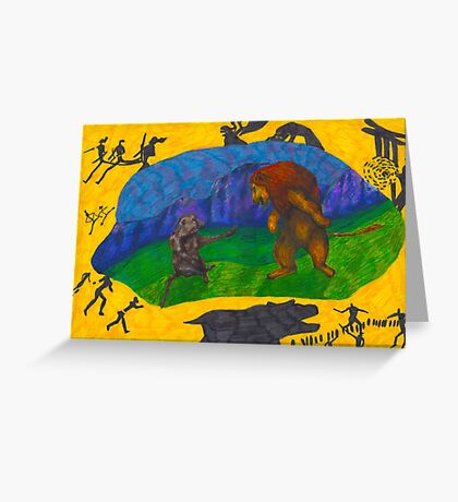 What is the Lion King afraid of?  Greeting Card