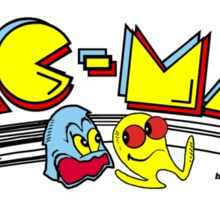 Pac-Man Marquee Sticker