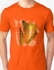 Gold and Amber Abstract Unisex T-Shirt