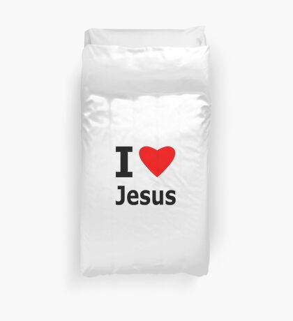 I Heart Jesus Duvet Cover