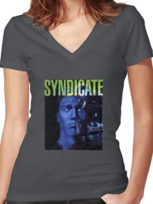 Syndicate Cover Women's Fitted V-Neck T-Shirt