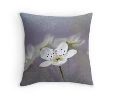 Pear Blossoms in the Garden Throw Pillow