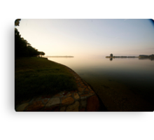 Early morning on the lake Canvas Print