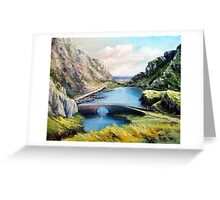 chat on the bridge Greeting Card