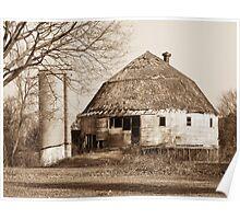 The Dougan Round Barn in Beloit, Wisconsin Poster