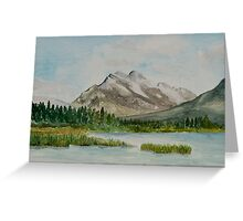 Mount Rundle, Alberta, Canada Greeting Card
