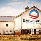 Barack Obama Presidential Campaign Barn by Marcia Rubin