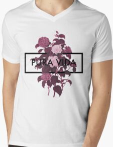 Pura Vida Flowers Mens V-Neck T-Shirt