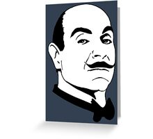 Poirot. Greeting Card