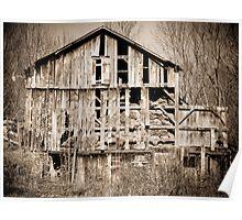 Dilapidated Ohio Barn  Poster