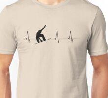 Heartbeat Snowboarder Unisex T-Shirt